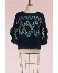 Peter Pilotto | Silk Fil Coupe Blouse | Lyst