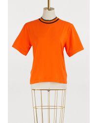 Etudes Studio - Contrast Neckline T-shirt - Lyst