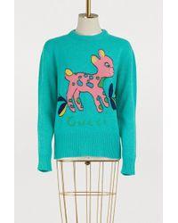 Gucci - Bambi Wool Sweater - Lyst
