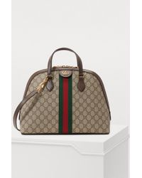 3ec8b82b631 Gucci Brown Small GG Supreme Ophidia Belt Bag in Brown - Lyst