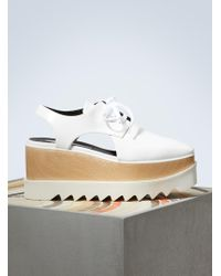 Stella McCartney - Elyse Cut-out Derby Shoes - Lyst