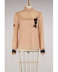 RED Valentino   Tulle Georgette Blouse   Lyst