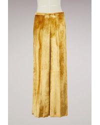 Forte Forte - Silk And Velvet Trousers - Lyst