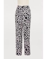 Koche - Straight Leopard Pants - Lyst