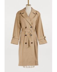 Maison Kitsuné - Helena Cotton Trench Coat - Lyst