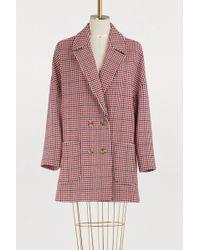 RED Valentino - Manteau Oversize En Tweed - Lyst