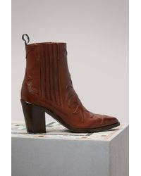 Sartore - Heeled Flare Boots - Lyst