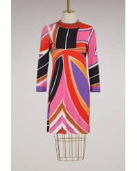 Emilio Pucci - Jersey Knee Length Dress - Lyst