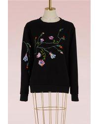 Paul & Joe - Embroidered Fleece Sweatshirt - Lyst