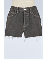 Current/Elliott - Ultra High-waisted Denim Shorts - Lyst