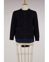 Moncler - Knitted Bomber Jacket - Lyst