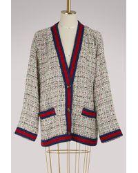 Gucci - Crystal And Tweed Jacket - Lyst