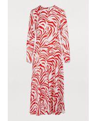 MSGM - Zebra-printed Dress - Lyst