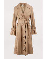 Stella McCartney - Ruffled Trench Coat - Lyst