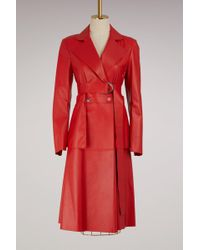 Sportmax - Cassino Leather Coat - Lyst