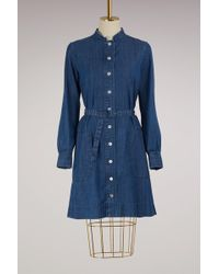 A.P.C. - Denim Jane Dress - Lyst