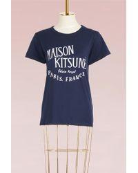 Maison Kitsuné - Palais Royal Cotton T-shirt - Lyst