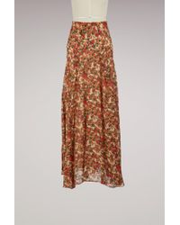 Isabel Marant - Silk Ferone Skirt - Lyst