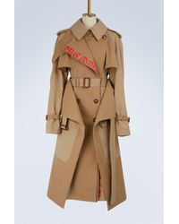 Alexander McQueen | Logo Cotton Trench Coat | Lyst