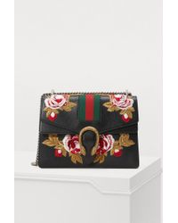 Gucci - Dionysus Embroidered Leather Shoulder Bag - Lyst