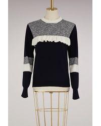 Maison Kitsuné - Wool Sweater With Ruffles - Lyst