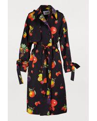 MSGM - Fruit Print Trench Coat - Lyst