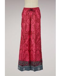 Mary Katrantzou - Tarot Silk Wide Leg Trousers - Lyst