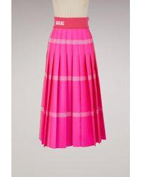 Fendi - A-line Midi Skirt - Lyst