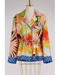 Gucci - Tropical Bird Silk Pajama Shirt - Lyst
