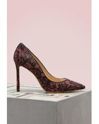 Jimmy Choo | Romy 100 Lace On Suede Court Shoes | Lyst