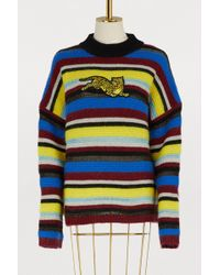 KENZO - 'jumping Tiger' Striped Sweater - Lyst