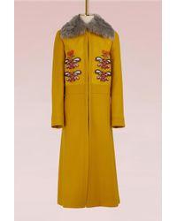 Anya Hindmarch - Wool Long Coat - Lyst