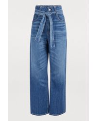 3x1 - Kelly Paper Bag Wide Leg Jeans - Lyst