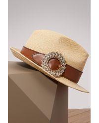 Miu Miu   Straw Panama Hat   Lyst