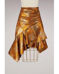 Peter Pilotto - Lurex Mini Skirt - Lyst