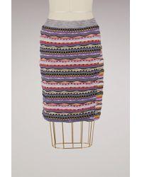 Carven   Cotton Short Skirt   Lyst