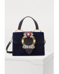 Miu Miu - Miu Lady Velvet Top Handle Bag - Lyst