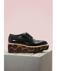 Prada | Leopard Sole Derbies | Lyst