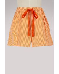 Fendi - Wide-leg Shorts - Lyst