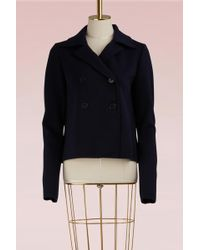 Jil Sander - Double Breasted Wool Jacket - Lyst