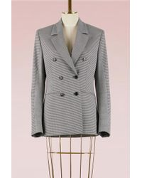 MSGM - Mixed Check Wool Jacket - Lyst