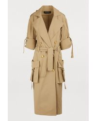 Balmain - Oversized Pockets Trench Coat - Lyst