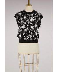 Lanvin | Graphic Printed Knit Top | Lyst