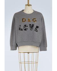 Dolce & Gabbana - Dg Love Sweatshirt - Lyst
