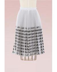 MSGM | Laser Cut Houndstooth Skirt | Lyst