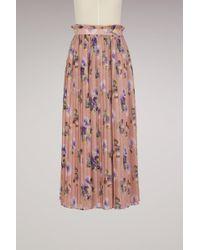 MSGM | Georgette Floral Print Skirt | Lyst