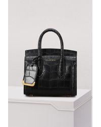 Alexander McQueen - Heroine 21 Croc Leather Tote Bag - Lyst