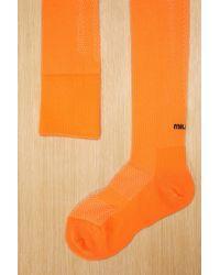 Miu Miu - High Rise Socks - Lyst