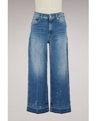 7 For All Mankind - Marnie High-waisted Denim Culottes - Lyst