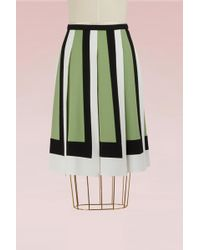 Valentino - Colorblock Pleated Skirt - Lyst